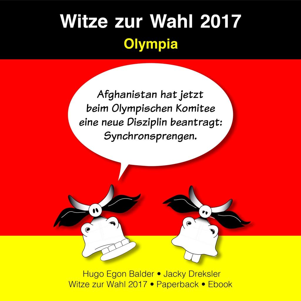 Afghanistan hat jetzt beim Olympischen Komitee eine neue Disziplin beantragt: Synchronsprengen.